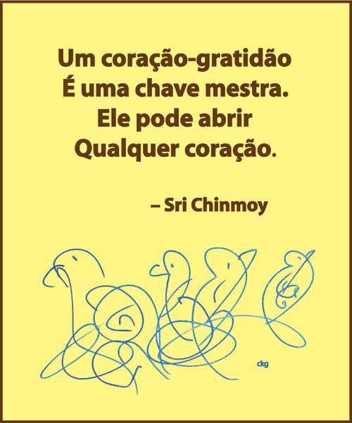 um-coracao-gratidao-sri-chinmoy é uma chave mestra
